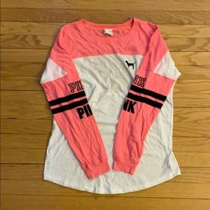 hot pink long sleeve with open back from pink!
